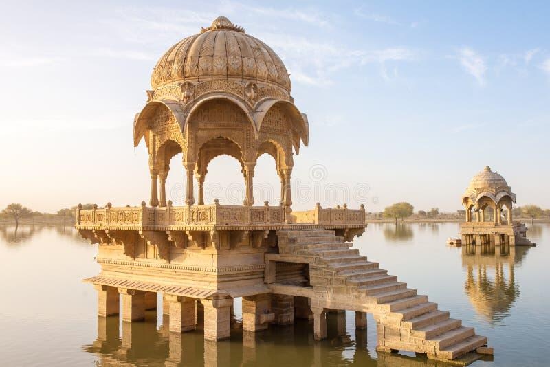 Gadi Sagar - τεχνητή λίμνη σε Jaisalmer, Rajasthan στοκ φωτογραφία με δικαίωμα ελεύθερης χρήσης