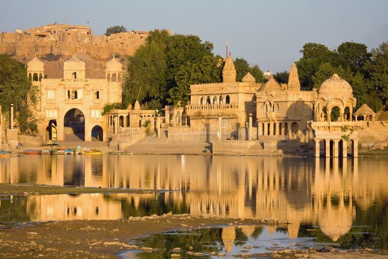 Download Gadisagar Lake, Jaisalmer, India Stock Photo - Image: 28973182
