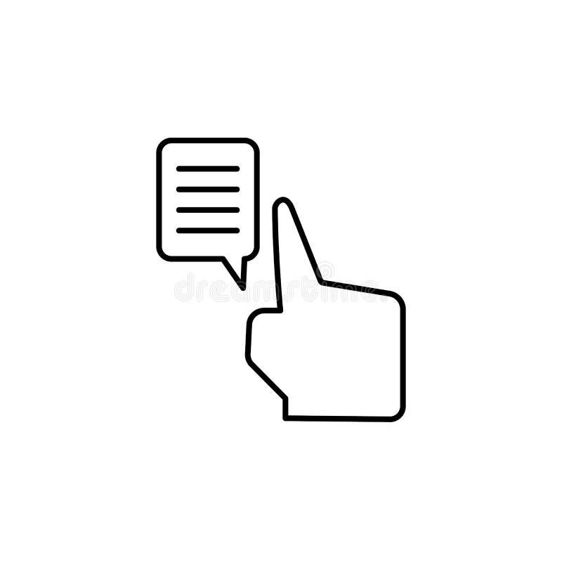 Gadka uwalnia, dotyka, dotyka, rozmowy ikona Element korupcji ikona Cienieje kreskow? ikon? na bia?ym tle ilustracji