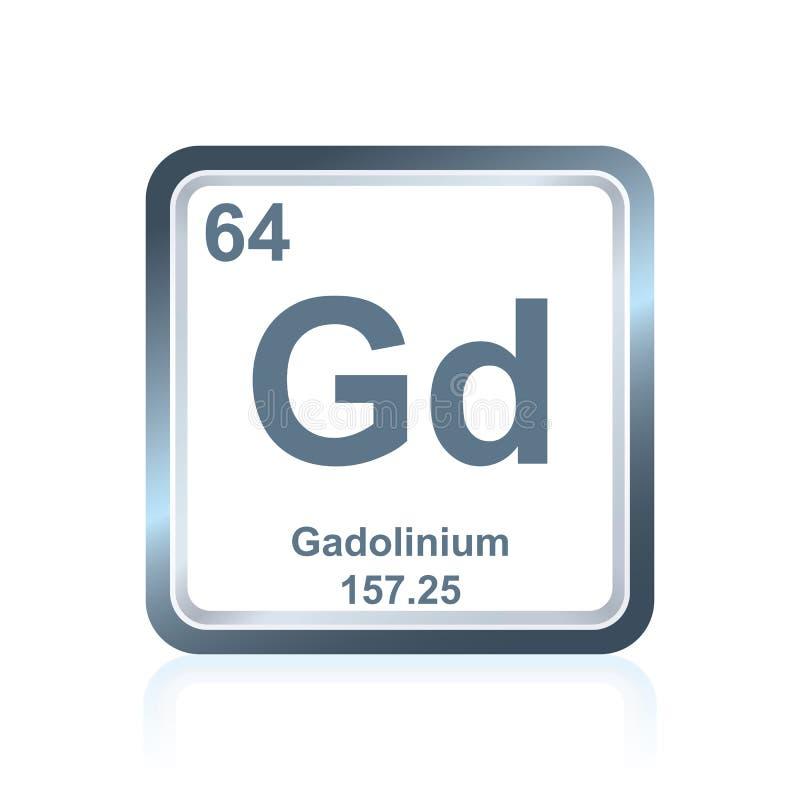 Gadolinio dell'elemento chimico dalla Tabella periodica royalty illustrazione gratis