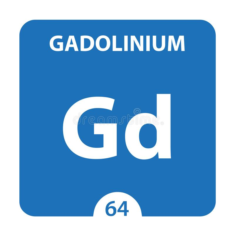 Gadolinium Chemical 64 élément du tableau périodique Contexte De La Molécule Et De La Communication Gadolinium Chemical Gd, labor illustration libre de droits