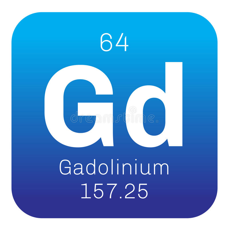 Gadolinium chemical element stock image image of scientific rare metal colored icon with atomic number and atomic weight chemical element of periodic table urtaz Image collections