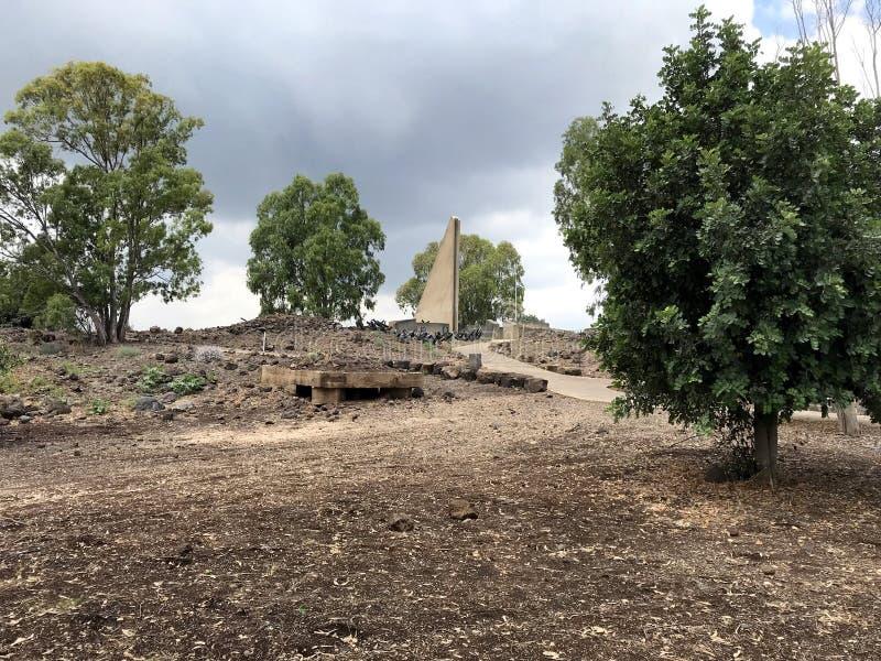 Gadot punkt obserwacyjny, wzgórze golan, Izrael obraz royalty free