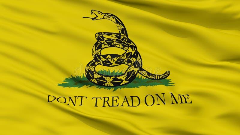 Gadsden flaga zbliżenia widok ilustracja wektor