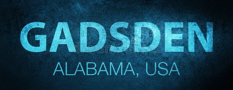 gadsden l'alabama Fondo blu speciale dell'insegna di U.S.A. illustrazione di stock