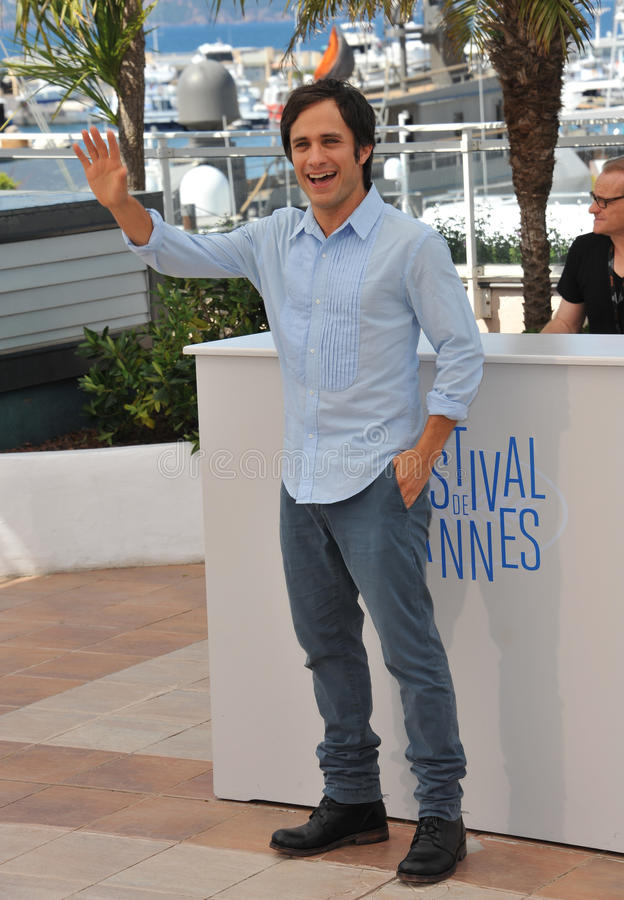 Gael Garcia Bernal. CANNES, FRANCE - MAY 18, 2014: Gael Garcia Bernal at the photocall for his movie El Ardor at the 67th Festival de Cannes stock image