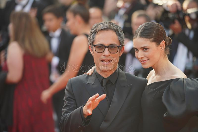 Gael Garcia Bernal and Fernanda Aragones. Attend the closing ceremony screening of `The Specials` during the 72 Cannes Film Festival on May 25, 2019 in Cannes royalty free stock image