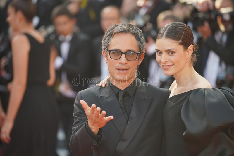 Gael Garcia Bernal and Fernanda Aragones. Attend the closing ceremony screening of `The Specials` during the 72 Cannes Film Festival on May 25, 2019 in Cannes stock photos