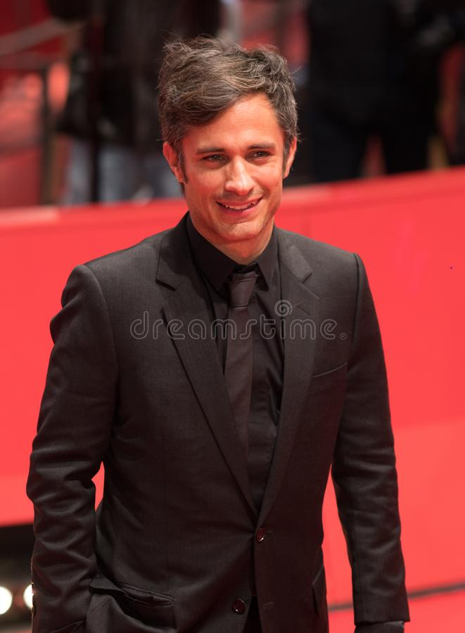 Gael Garcia Bernal on red carpet during Berlinale 2018. Berlin, Germany - February 24, 2018: Mexican actor and director Gael Garcia Bernal on red carpet at the stock image