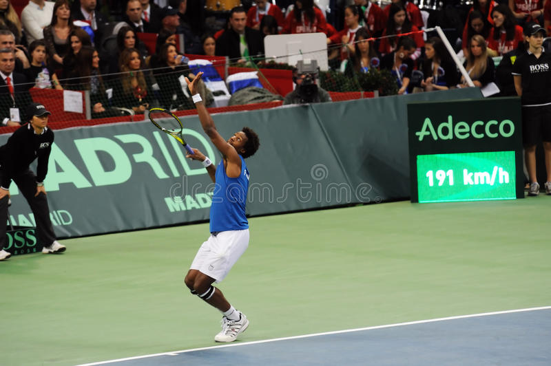 Download Gael Monfils editorial stock photo. Image of match, gael - 17317968