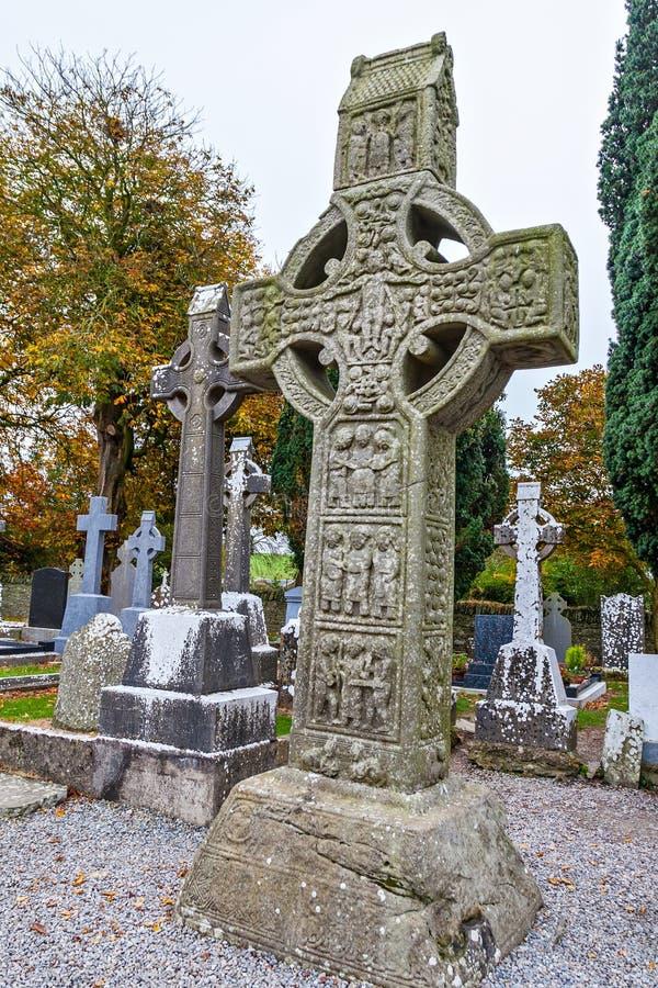 Gaelic Ancient Monasterboice Monastery arkivfoto