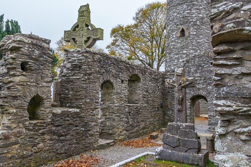 Gaelic Ancient Monasterboice Monastery royaltyfri fotografi
