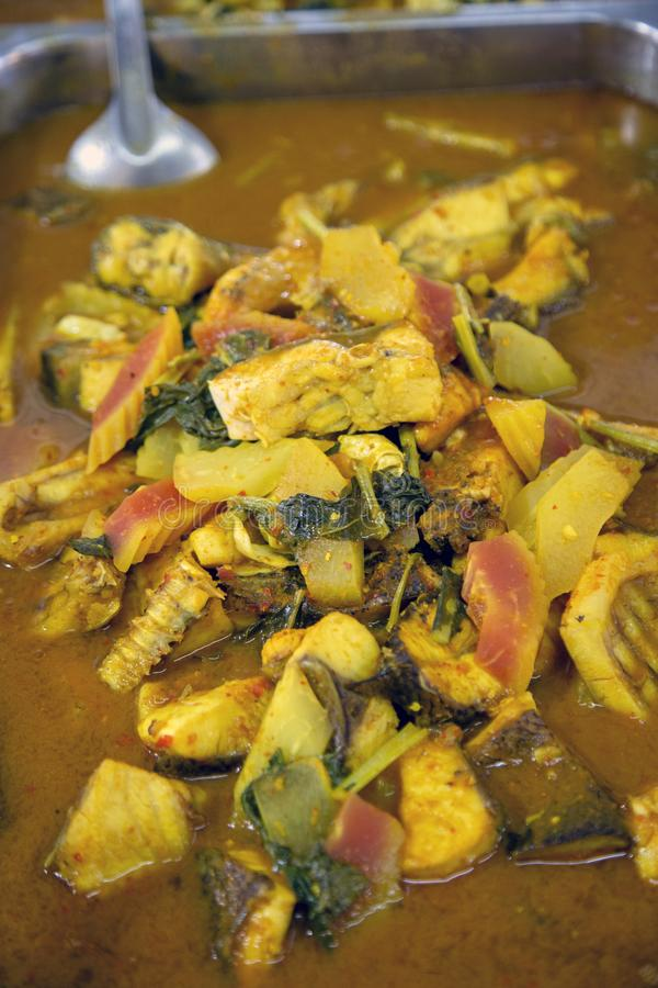 Gaeng Som Thai Sour Fish Curry royalty free stock photo