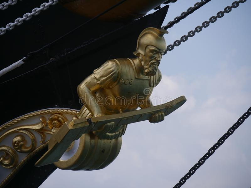 Gaeta - «Signora Del Vento «drewniany galeon fotografia royalty free
