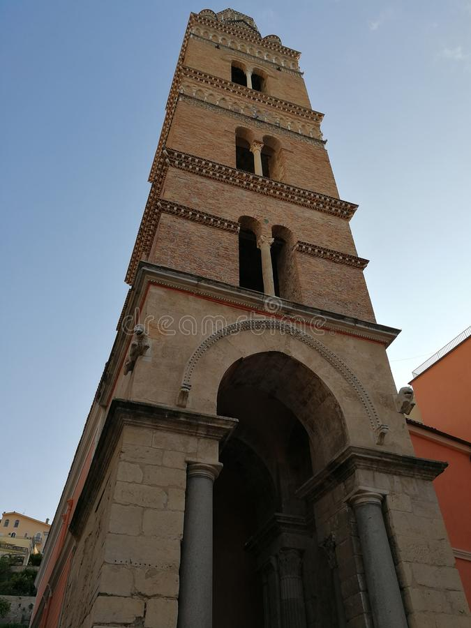 Gaeta - Cathedral Belfry stock photography