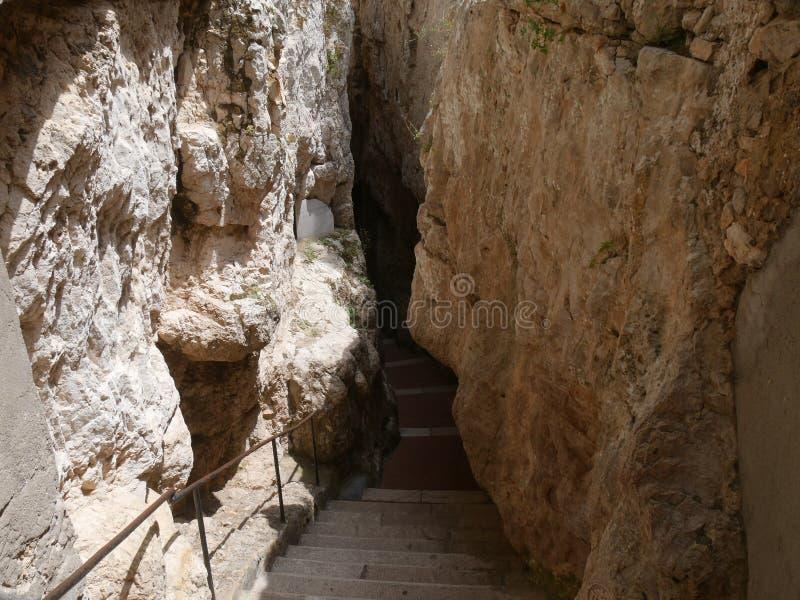 Gaeta - fractured mountain royalty free stock image