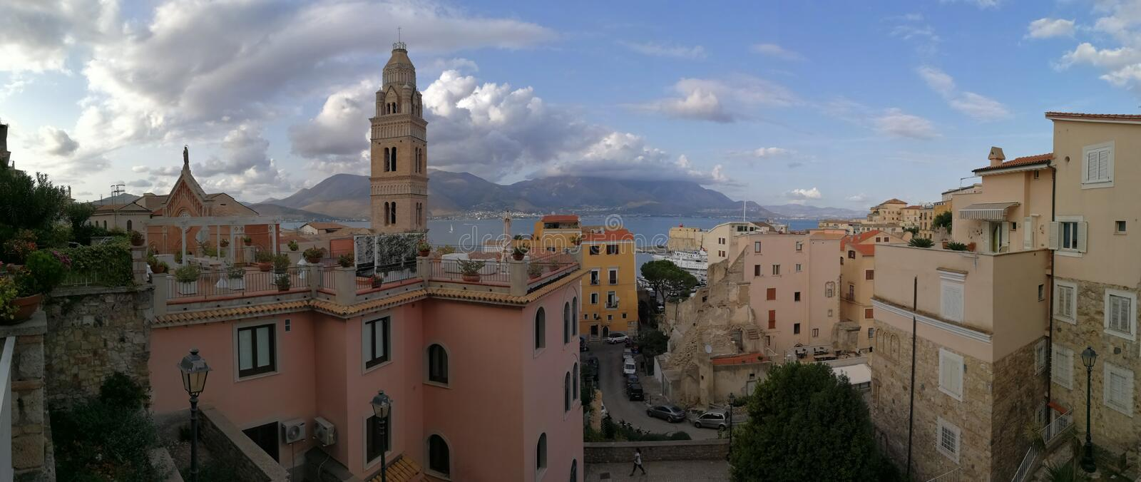 Gaeta - Overview of the Old Town royalty free stock image