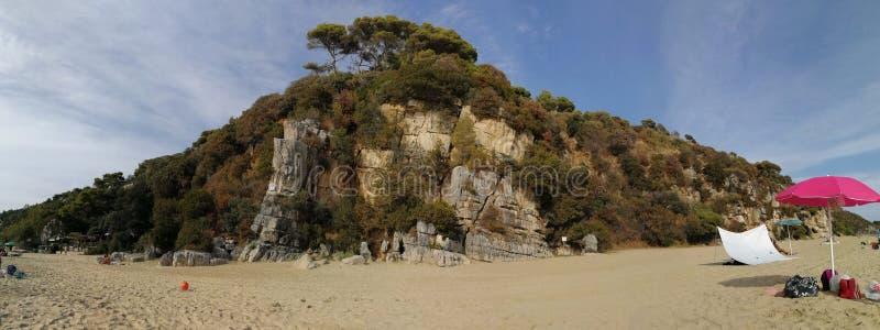 Gaeta - Overzicht van het Strand van Arenauta ` s royalty-vrije stock foto's