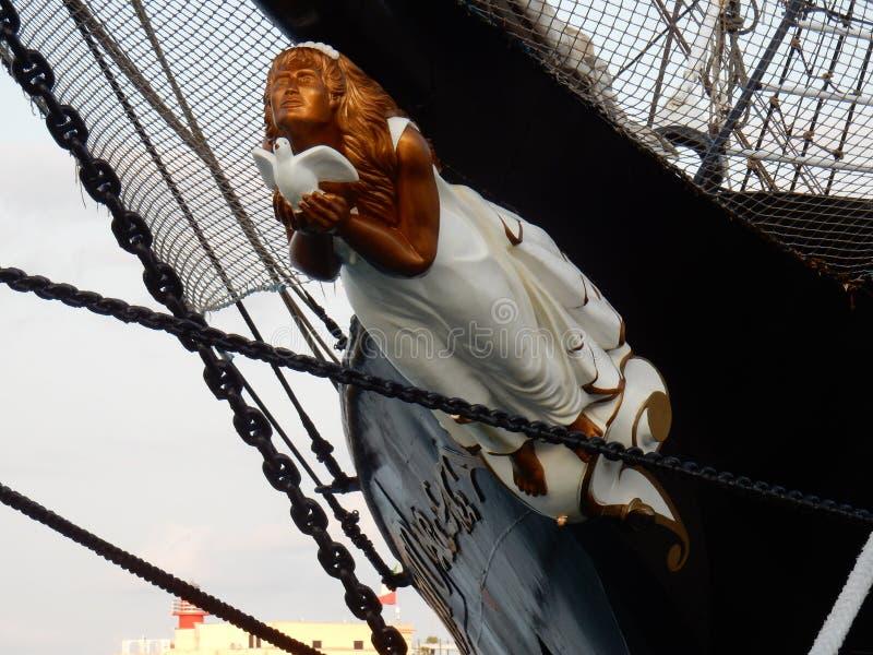 Gaeta - Polena ` дама ` ветра стоковые изображения