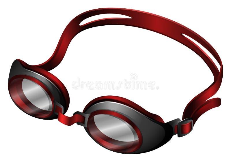 Gafas de la natación en wihte libre illustration