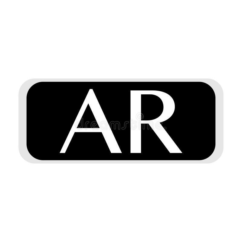 Gafas de la realidad virtual con el abreviation en él ilustración del vector