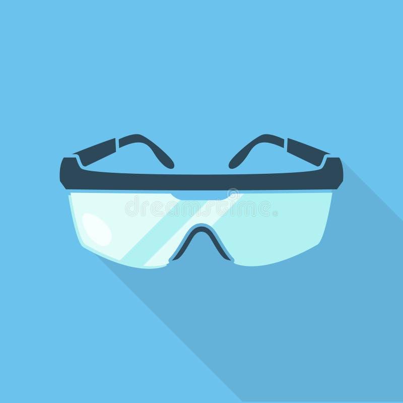 Gafas de seguridad ilustración del vector