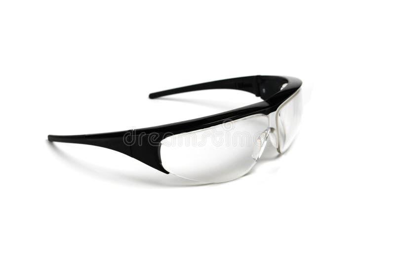 Gafas de seguridad negras fotografía de archivo