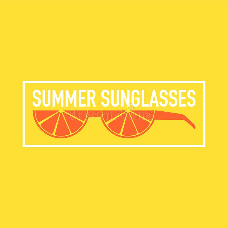 Gafas de sol épicas del verano hechas fuera de las frutas stock de ilustración