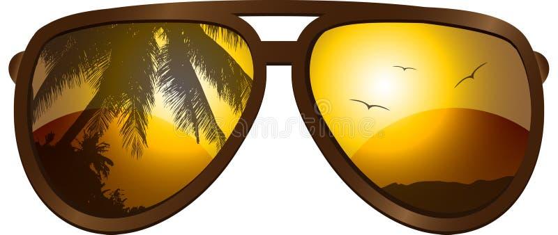 Gafas de sol ilustración del vector
