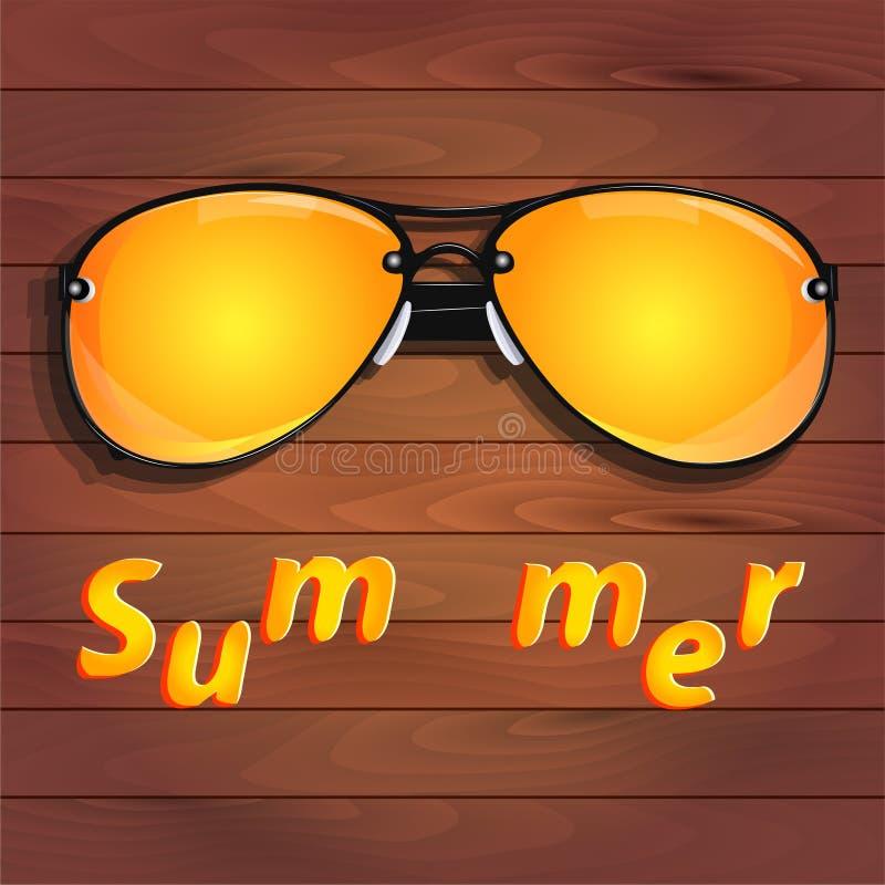 Gafas de sol amarillas, verano libre illustration