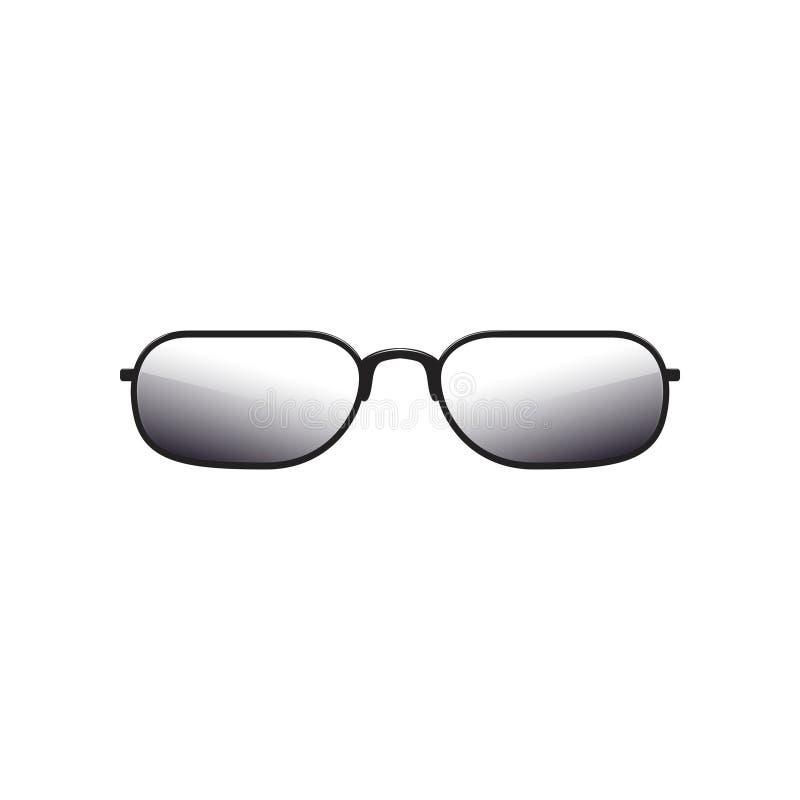 Gafas De Sol Con Las Lentes Teñidas Y El Marco Metálico Negro Grueso ...