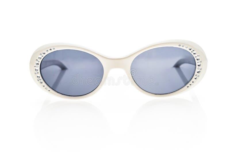 Gafas de sol de los niños, sombras del sol o gafas aisladas en blanco imagen de archivo libre de regalías