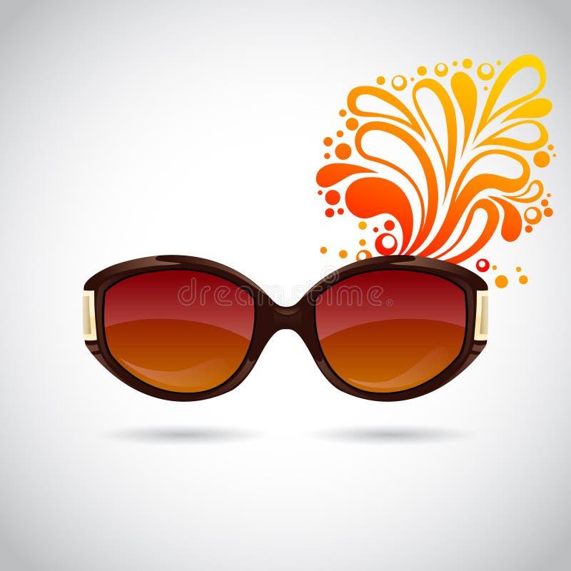 Gafas de sol de moda realistas de la mujer ilustración del vector