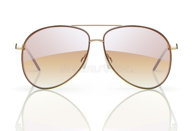 Gafas de sol del aviador ilustración del vector
