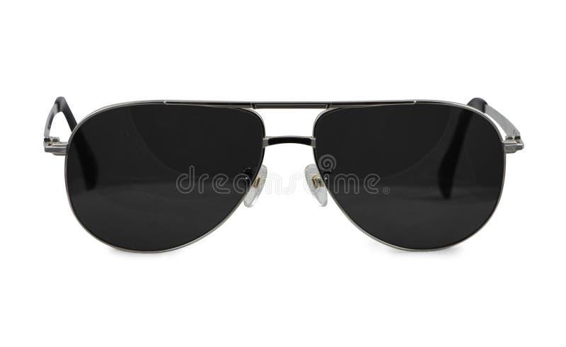 Gafas de sol en el fondo/los vidrios blancos foto de archivo
