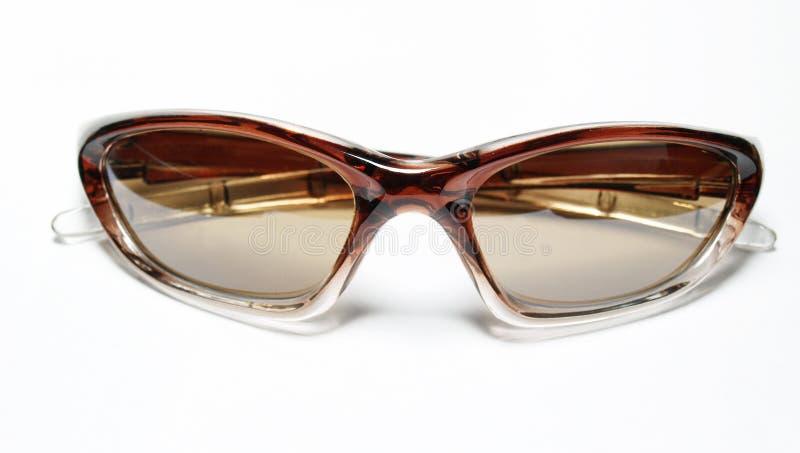 Gafas de sol marrones aisladas fotografía de archivo libre de regalías