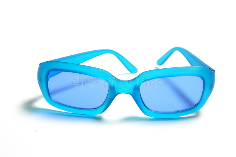 Gafas de sol plásticas azules fotos de archivo libres de regalías