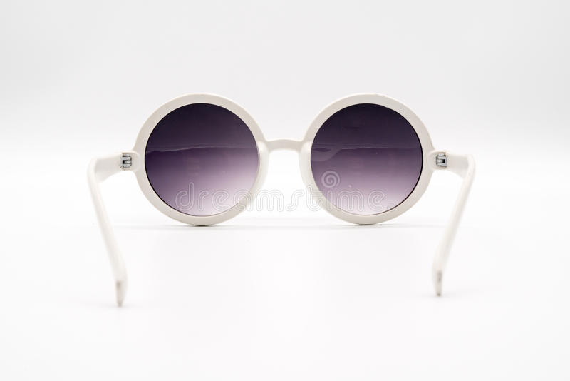 Gafas de sol plásticas de gran tamaño blancas fotos de archivo libres de regalías