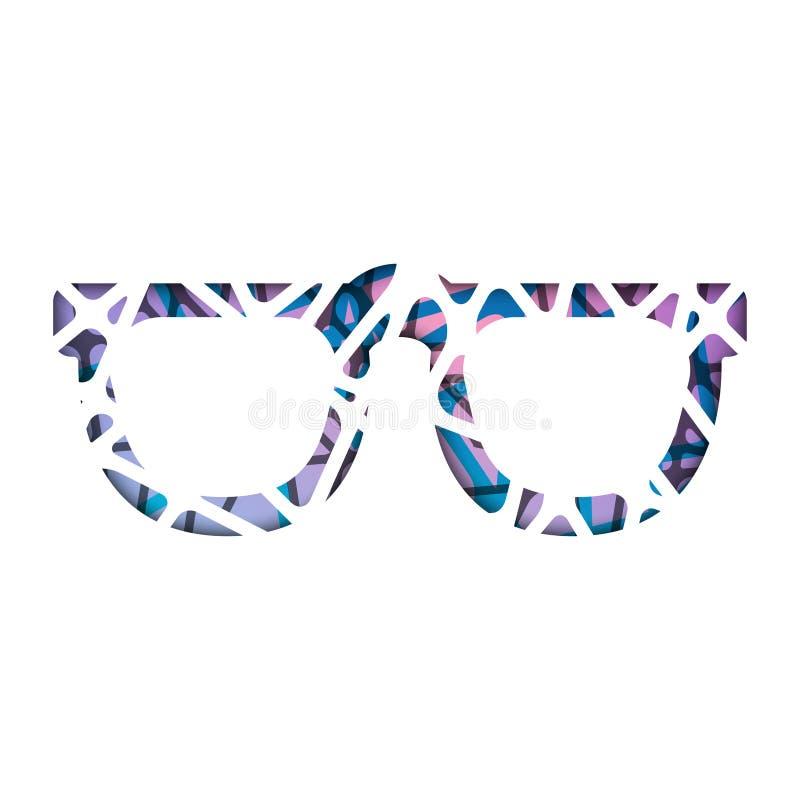 Gafas de sol poligonales abstractas Plantilla moderna abstracta del diseño geométrico foto de archivo libre de regalías