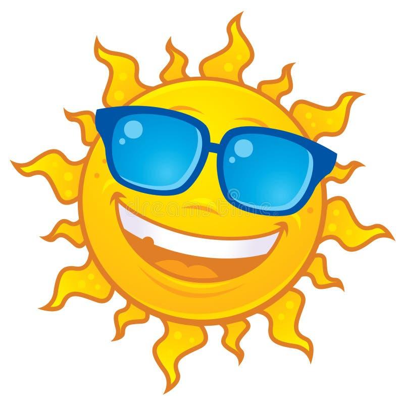 Gafas de sol que desgastan de Sun ilustración del vector