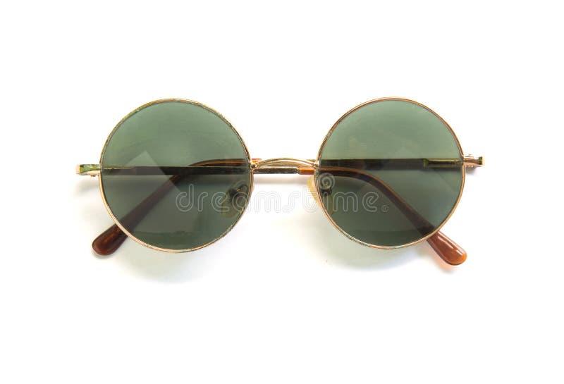 Gafas de sol redondas en el fondo blanco fotografía de archivo
