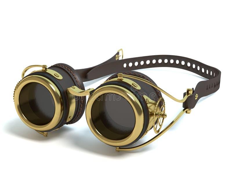 Gafas de Steampunk stock de ilustración