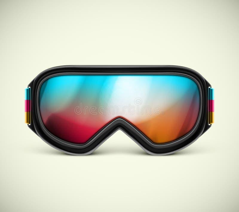 Gafas del esquí libre illustration