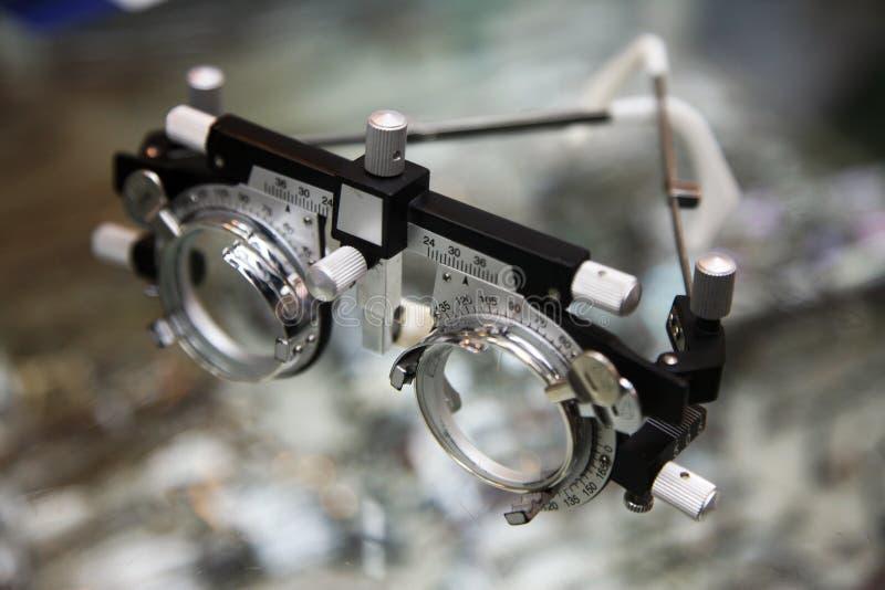 Gafas del optómetra fotografía de archivo