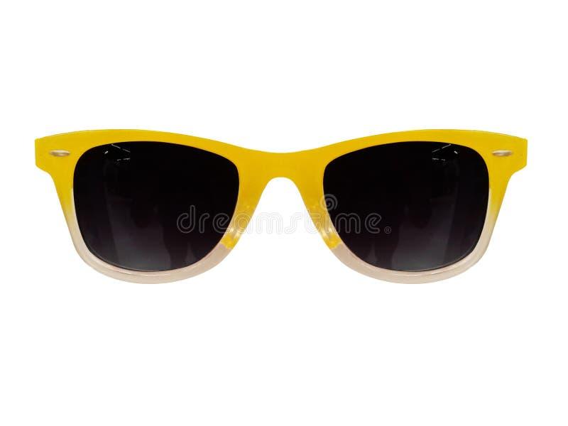 Gafas espectáculos Gafas de sol En el fondo blanco Gafas de los vidrios del ojo fotos de archivo