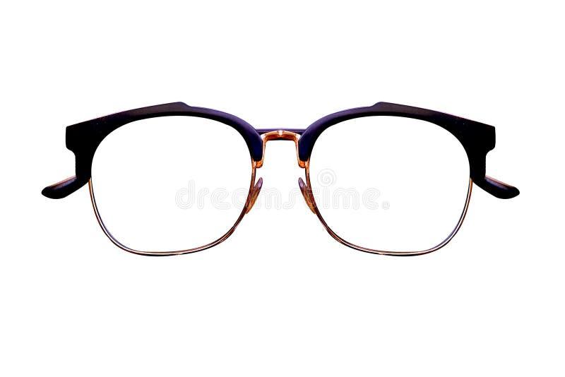 Gafas espectáculos Gafas de sol En el fondo blanco Gafas de los vidrios del ojo imagenes de archivo