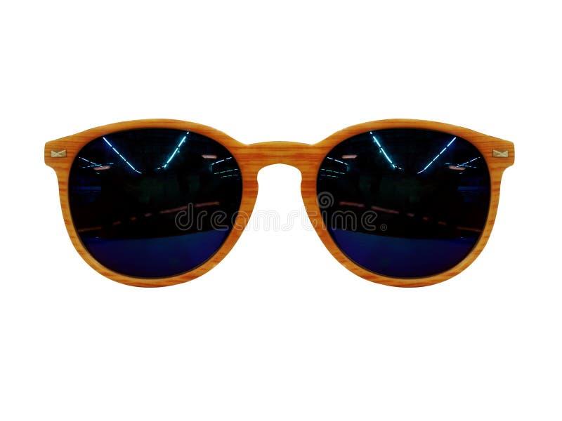 Gafas espectáculos Gafas de sol En el fondo blanco Gafas de los vidrios del ojo foto de archivo libre de regalías