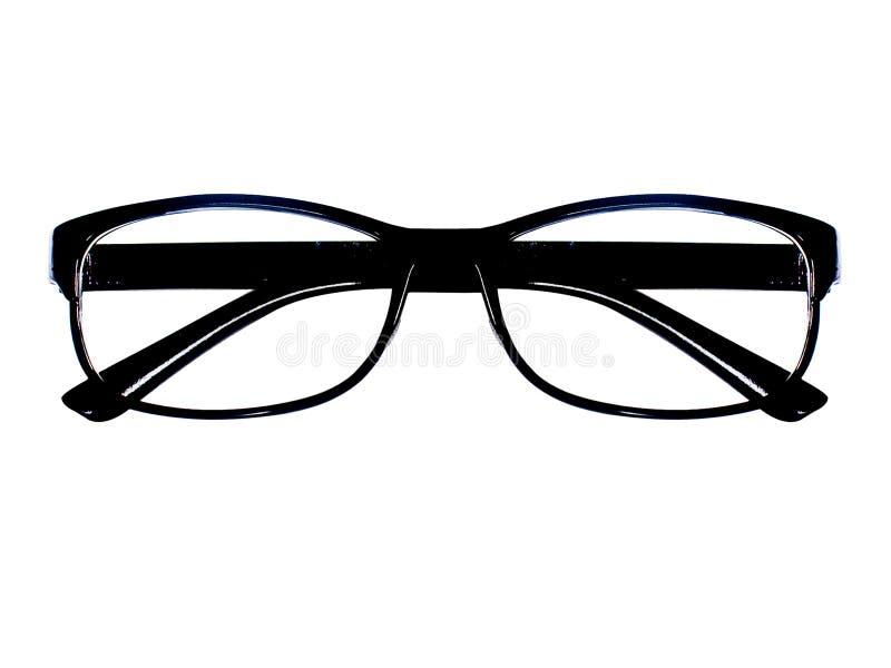 Gafas espectáculos Gafas de sol En el fondo blanco Gafas de los vidrios del ojo imagen de archivo libre de regalías