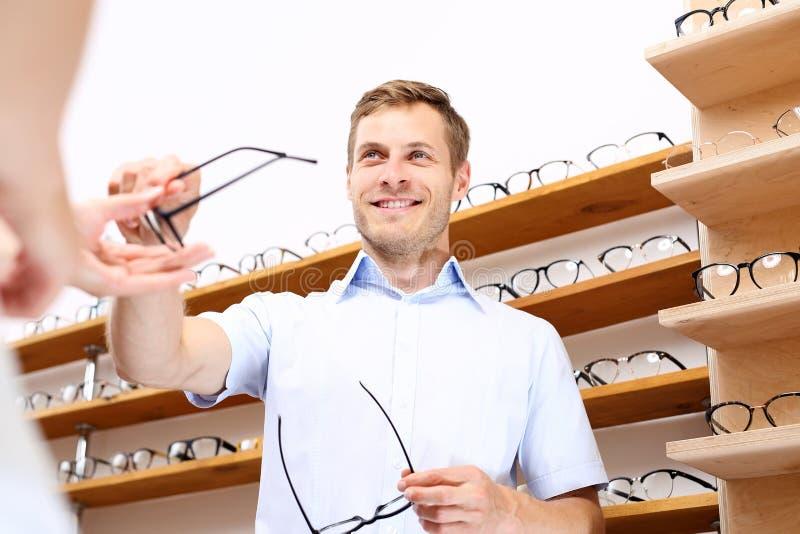 Gafas optician imagenes de archivo
