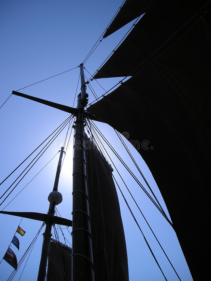 Download Gaff Sails (Silhouette) stock photo. Image of travel, environmentally - 8283688